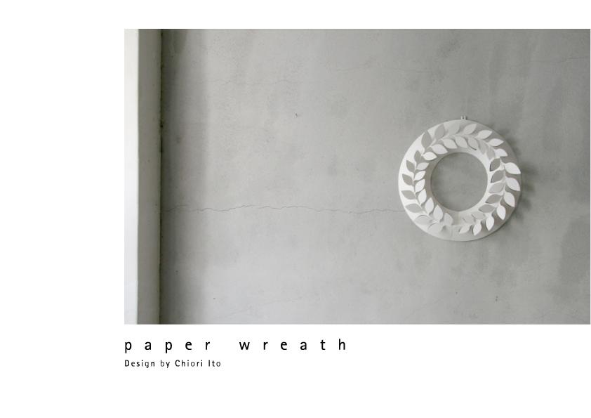 paper wreath|ペーパーリース 画像01